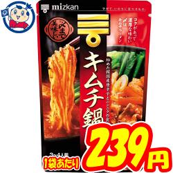 ミツカン 〆まで美味しいキムチ鍋つゆ 750g×12袋